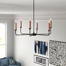 Daryl 6-Light Candle Style Chandelier Zipcode
