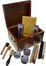 Dasco Valet box in Walnut with Dasco shoe cleaning