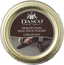 Dasco Wax shoe polish - Dark Brown