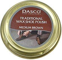 Dasco Wax shoe polish - Medium Brown by Dasco