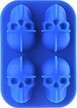 Dasket Skull Shaped Ice Cube Mold Halloween Whisky