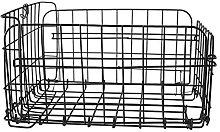DASNTERED Rear Bike Basket, Steel Wire Foldable