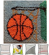 DATOU Basket Pattern Latch Hook Rug Kits For