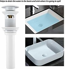 DAUERHAFT Drain Stopper Drainer with White Coating Premium Brass Material, Fits for Most of Ceramic Basin, Washbasins, Sinks, Bath Tubs, Shower Tub, Etc