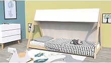 Daugherty European Single Tent Bed with Tower