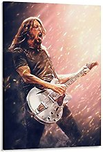 Dave Grohl Foo Fighters3 Canvas Art Poster and