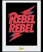 David Bowie Rebel Rebel Logo Framed Print Wall Art
