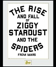 David Bowie Rise and Fall Framed Print Wall Art