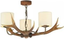 David Hunt lighting - Cream Antler 3 Pendant Light