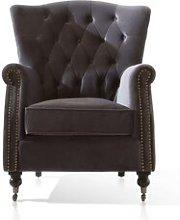 Davison Wingback Chair Canora Grey Upholstery