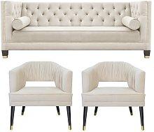Dawley 3 Piece Sofa Set BelleFierté Upholstery