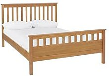Dawson Bed Frame With Mattress Options (Buy And Save!) - Oak Effect - Bed Frame With Microquilt Mattress