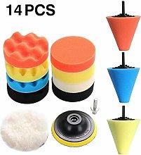 DAXINYANG Colorful Linght 14pcs Car Polishing Kit