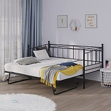 Day Bed with Trundle Single Double Bed Sofa Metal