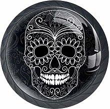 Day of The Dead Skull Cabinet Door Knobs Handles