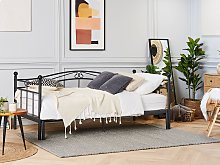 Daybed Trundle Bed Black EU Single 3ft to EU Super