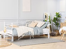Daybed Trundle Bed White EU Single 3ft to EU Super