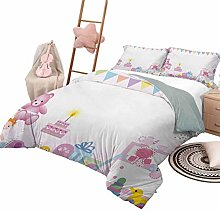 DayDayFun 3 Piece Bedding Sets Kids Birthday 3