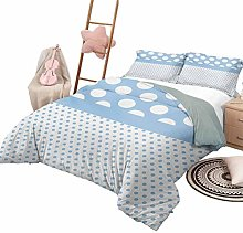 DayDayFun 3 Piece Bedding Sets Polka Dots 3 Piece