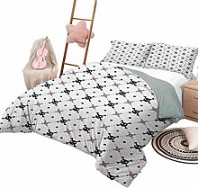 DayDayFun 3 Piece Bedding Sets Skull Bedspread Bed