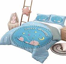 DayDayFun 3 Piece Coverlet Set Sweet Dreams Kids