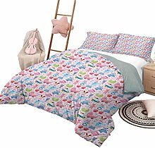 DayDayFun Quilt Bedding Set Baby Quilt Cover with