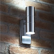 Daylight Sensor Stainless Steel Security Lamp Up &