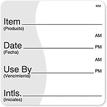 DayMark 51mm x 51mm Removable Item Date Use By