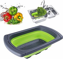 DAYNECETY 1Pc Silicone Collapsible Colander