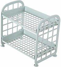 DAYNECETY 2 Layer Storage Desktop Shelf Unit