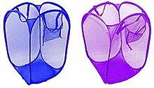 DAYNECETY 2Pc Laundry Storage Organiser Basket