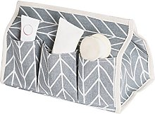 DAYNECETY Fabric Linen Tissue Holders Pocket Case
