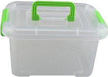 DAYNECETY Plastic Storage Box With Lid Handle Home