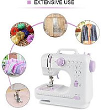 Dazhom - Sewing Machine Sewing Double Speed ​​Thread Portable Multifunction Household Adjustable