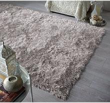 Dazzle Modern Thick Silky Shiny Yarn Shaggy Rug in