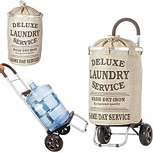 dbest products Laundry Trolley Dolly, Beige