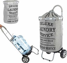 dbest products Laundry Trolley Dolly, Grey Laundry