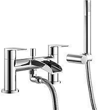 DBS Chrome Bath Shower Mixer Tap Round With Lever Handles