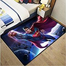 Dc Justice League Cartoon Superman Carpet Living