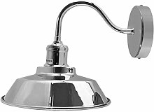 DC Voltage Wall Light Shade, Chrome Indoor Outdoor