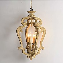 DC Wesley Brown Country Wooden Retro Chandelier