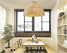 DC Wesley Pastoral Style Rattan Celling Light For