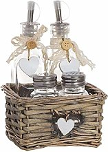 Dcasa 4 Piece Square Heart Base Oils and