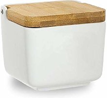 DCASA Bamboo Lid Salt and Pepper Shakers Bento