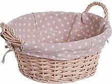 Dcasa Basket Wicker Stars Organizers for Closets