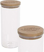 Dcasa Borosilicate/Bamboo Thermal Food Jars Bento