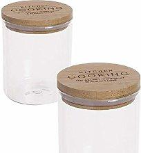 Dcasa Borosilicate/Bamboo Thermal Food Jars Bento