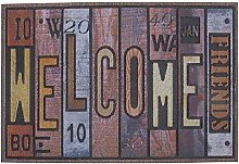 DCASA Embossed Welcome Reference DC Doormats Home