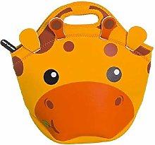 Dcasa Neoprene Giraffe Lunch Bags, Bento Lunch