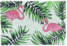 DCASA Non-Slip Flamingos Reference DC Doormats